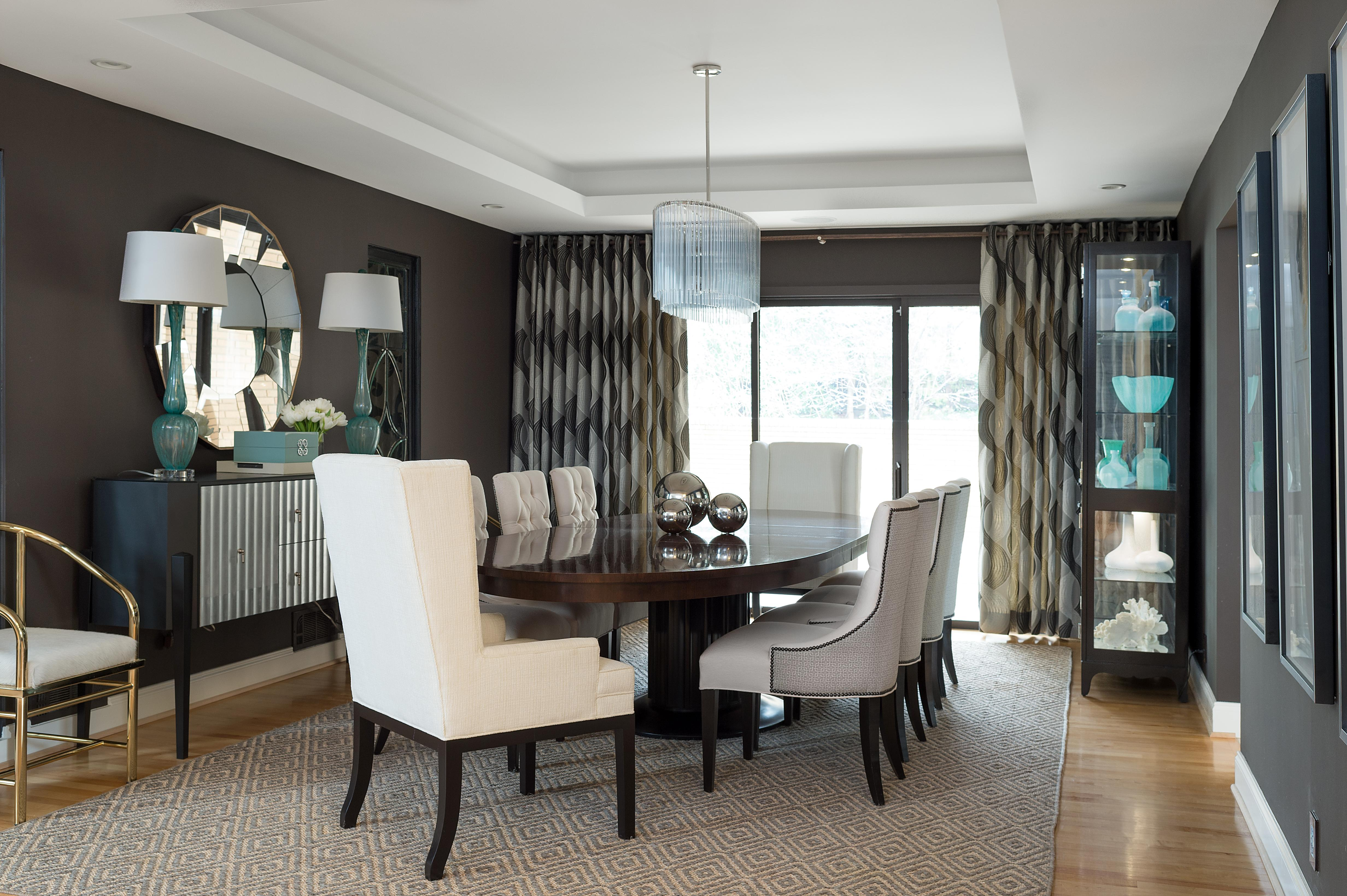 Chic Dining Room Designed By Jeff Mifsud Interior Classics